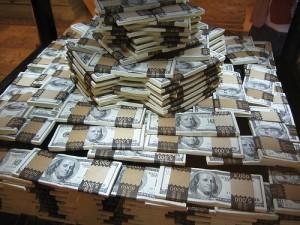 tas d'argent sale